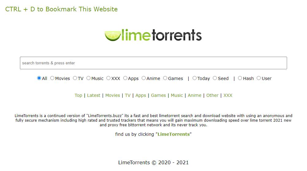 Lime Torrents- click42