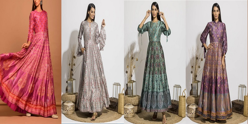 A Regal Beauty In Vasansi Silk Anarkali Suits Online