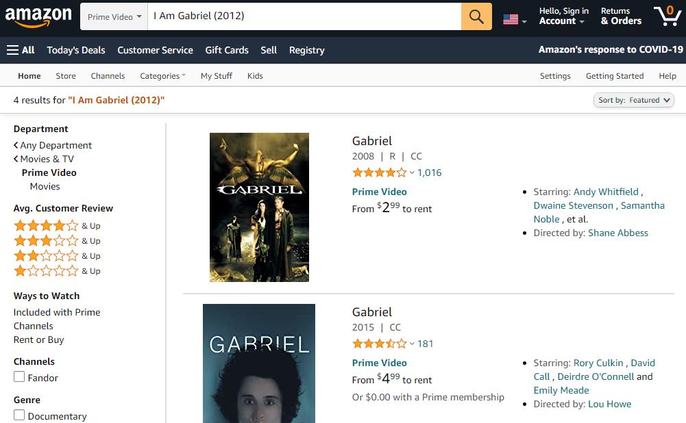 Amazon-I am Gabriel full movie free download- click42