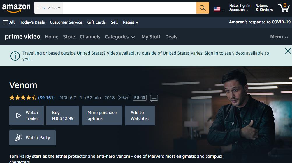 amazon-How To Watch Venom Full Movie online Free-click42